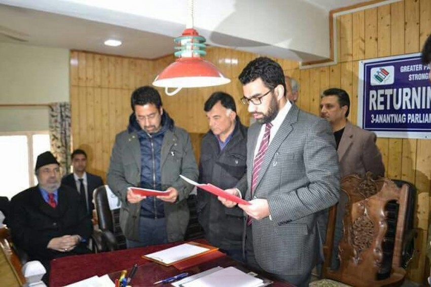 Mehbooba's Brother Tassaduq Mufti Files Nomination For Bye-Elections, Abdullahs Describe PDP As Flag Bearer Of RSS In J&K