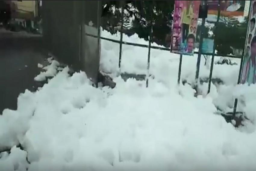 Bengaluru's Varthur Lake Has A Curious Surprise For Commuters: 'Snow'