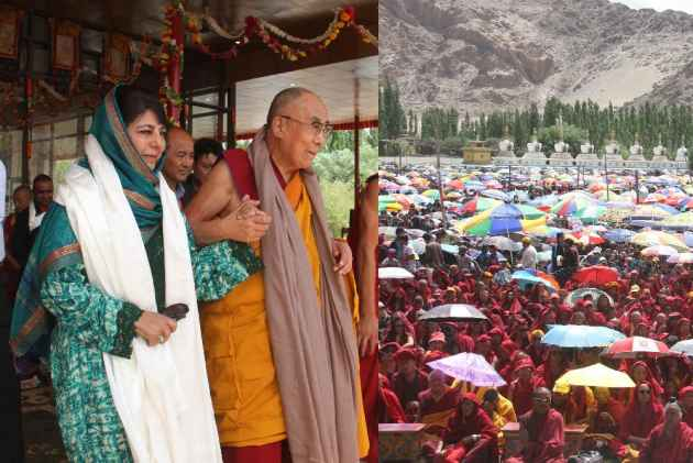 At Leh, Mehbooba Welcomes Dalai Lama, Praises Him For Pro Islam Statement
