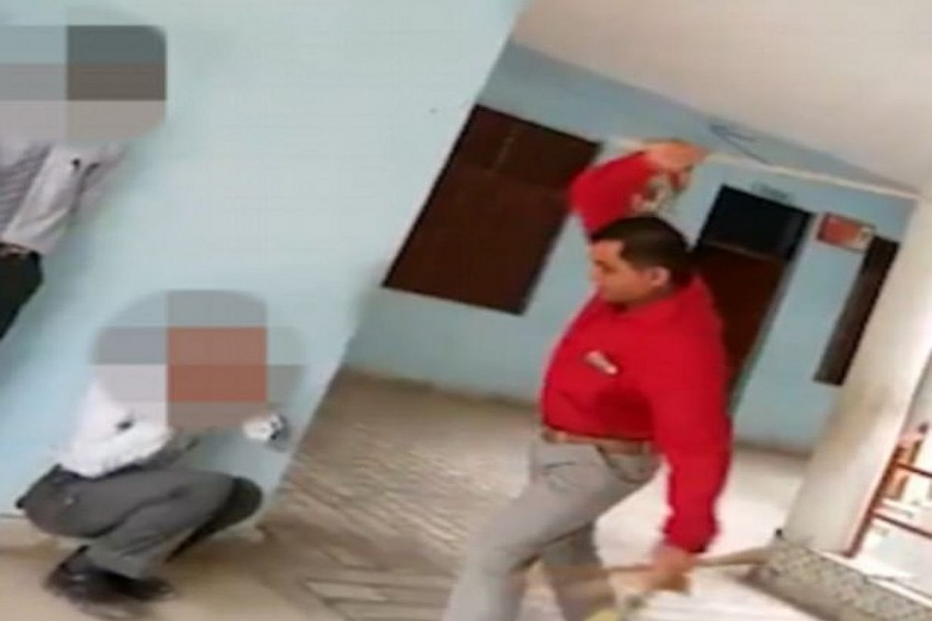 Shocking Corporal Punishment: UP School Headmaster Filmed Viciously Beating Students With A Cane