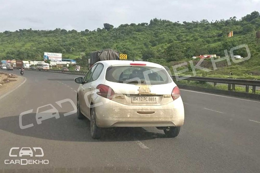 Peugeot 208 Spied Testing In India