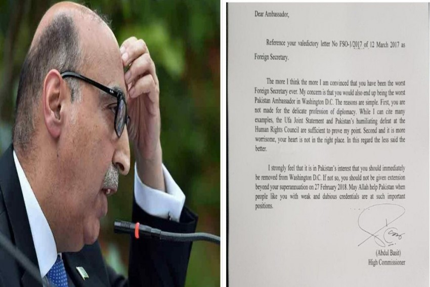 'You Have Been Pakistan's Worst Foreign Secretary Ever': Abdul Basit's Letter To US Envoy Emerges Online