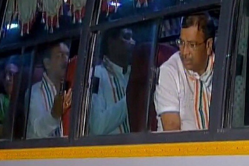 Gujarat Congress MLAs Return To Ahmedabad From Bengaluru, Shifted To Another Resort