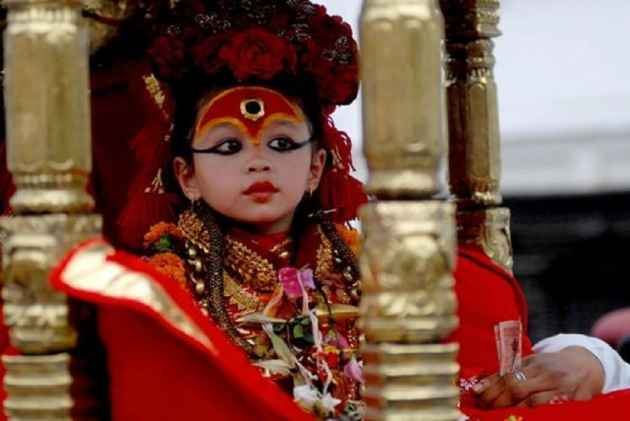 Three-Year-Old Girl Child Anointed As 'Living Goddess' In Nepal