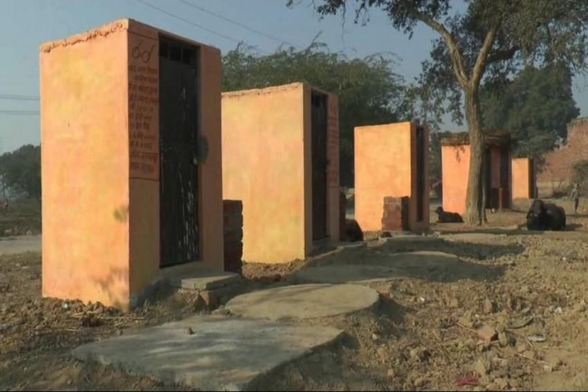 Toilets In Etawah Village, Akhilesh's Home District, Being Painted In Saffron Colour