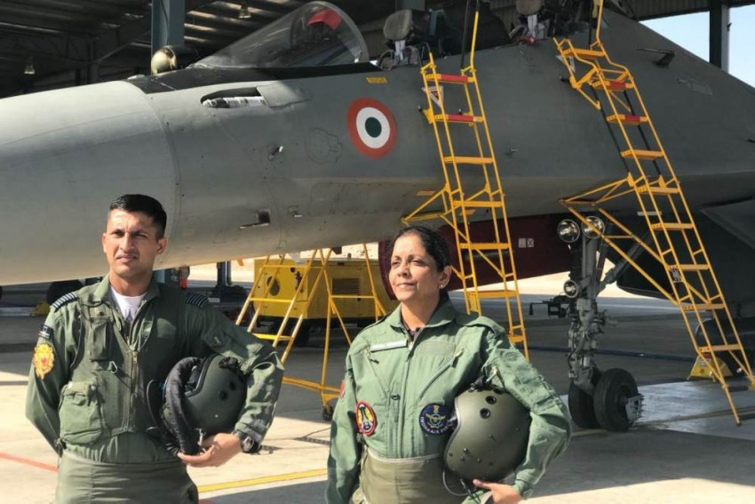 Defence Minister Nirmala Sitharaman Undertakes Sortie In Sukhoi