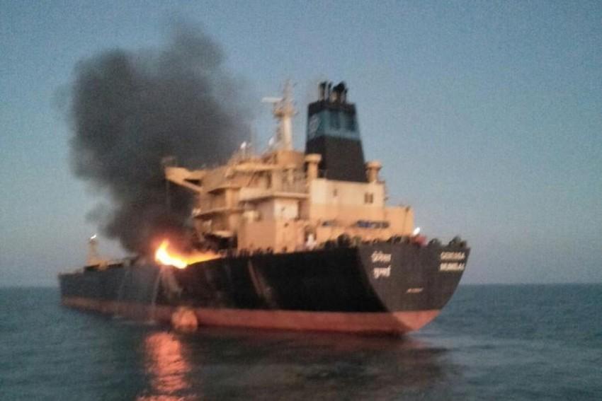 Major Fire Onboard Oil Vessel Off Gujarat Coast, 26 Crew Members Rescued