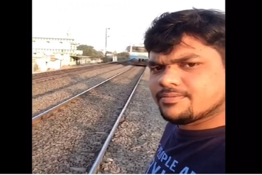 Selfie Video With Running Train Lands Hyderabad Youth In Hospital