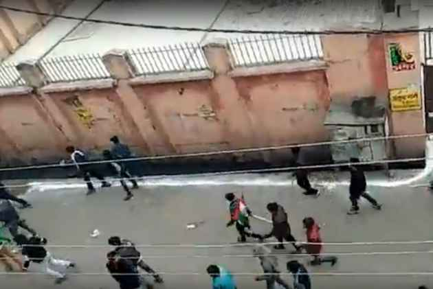Kasganj Violence: Video Shows Youths Holding Swords And Guns Charging Towards Muslim-Dominated Area