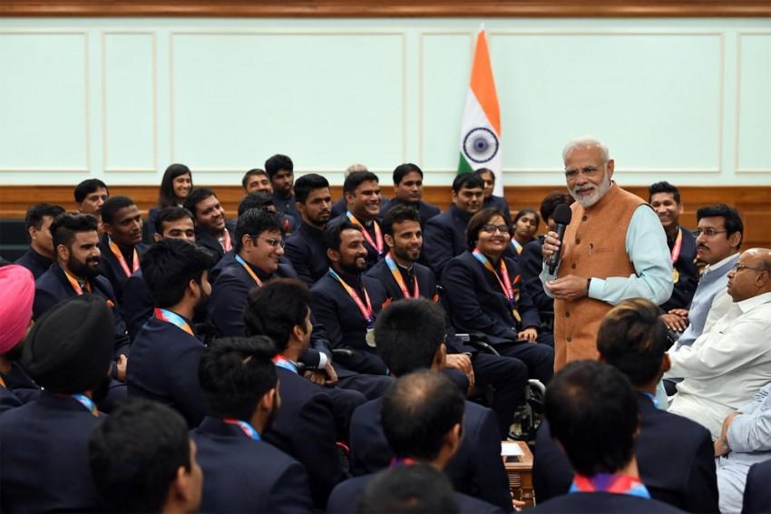In Pics: PM Narendra Modi Meets Asian Para Games 2018 Medallists
