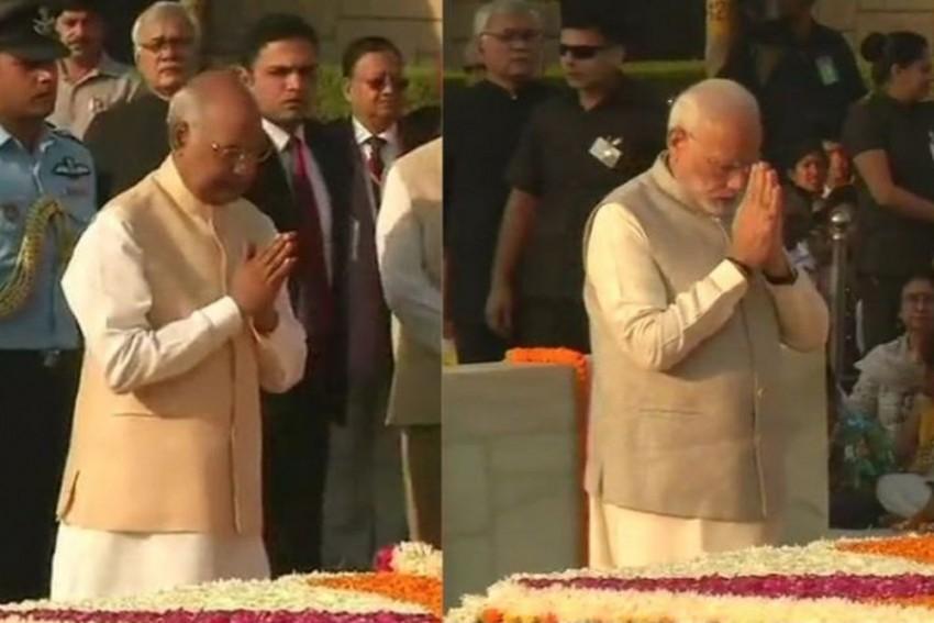President Kovind, PM Modi Pay Tribute To Mahatma Gandhi On 149th Anniversary