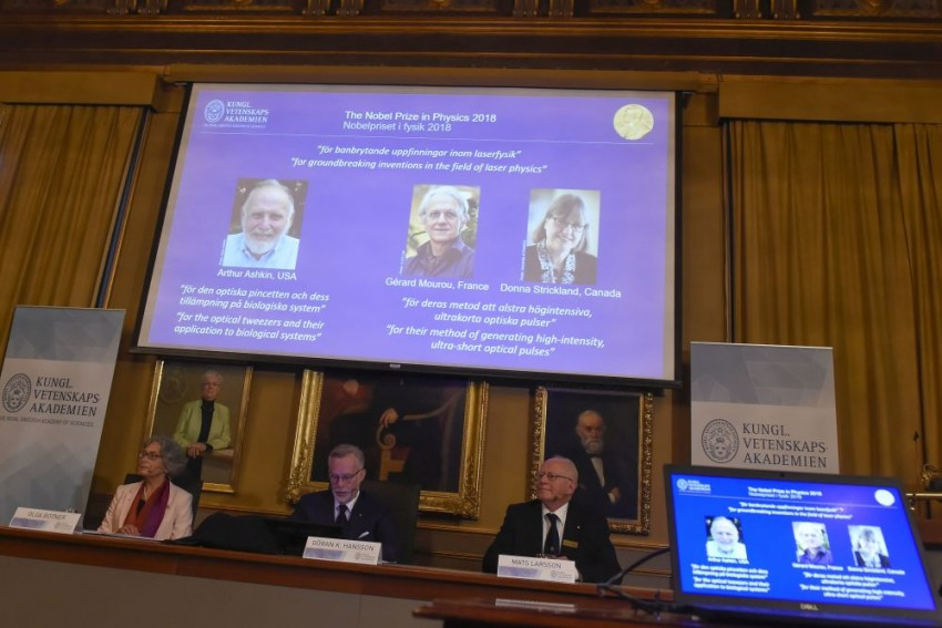 Three Scientists, Including Woman, Win Nobel Prize For Physics