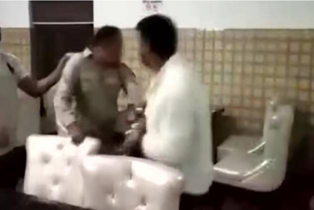 Caught On Camera: BJP Councilor Thrashes Police SI, Arrested