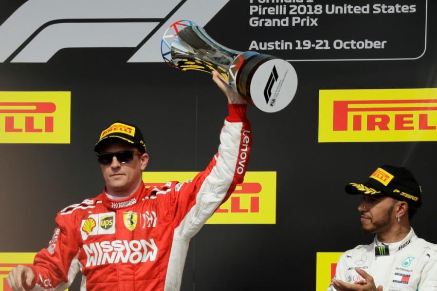 US Grand Prix: Raikkonen Wins 1st Race In Ages, Makes Hamilton Waits For F1 Title