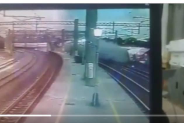 Watch: Speeding Train Turns Turtle, Killing 18 People In Taiwan