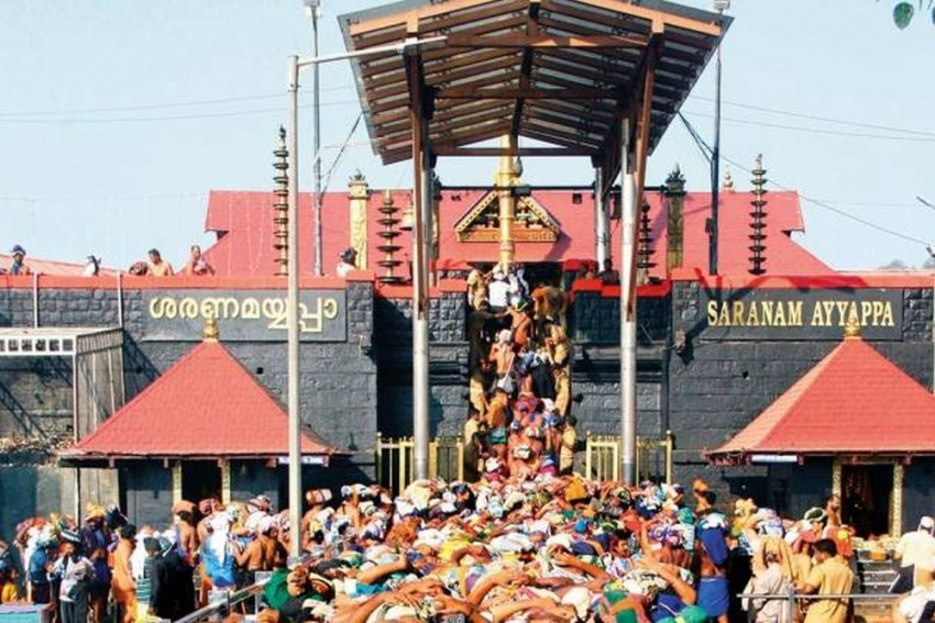 Sabarimala: Security Tightened As Women Stopped From Entering Temple On Last Day Of 'Darshan'