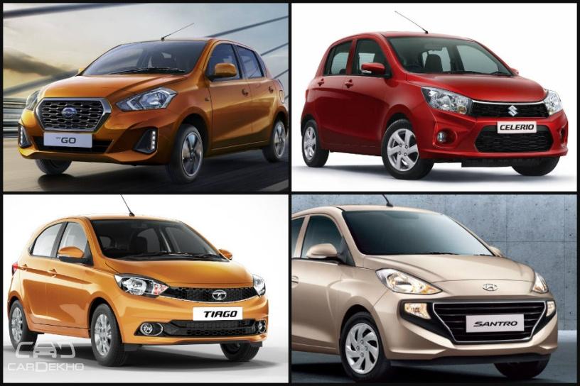 Spec Comparison: Hyundai Santro vs Datsun GO facelift vs Celerio vs Tiago vs WagonR