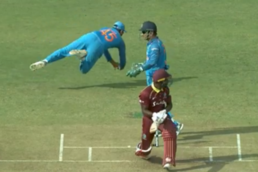 Rohit Sharma Takes A Blinder At Slip To Dismiss Rovman Powell – Watch
