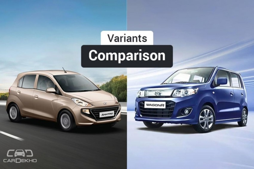 New Hyundai Santro vs Maruti WagonR: Variants Comparison