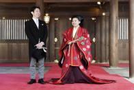 Japanese Princess Ayako Marries Commoner At Tokyo's Meiji Shrine
