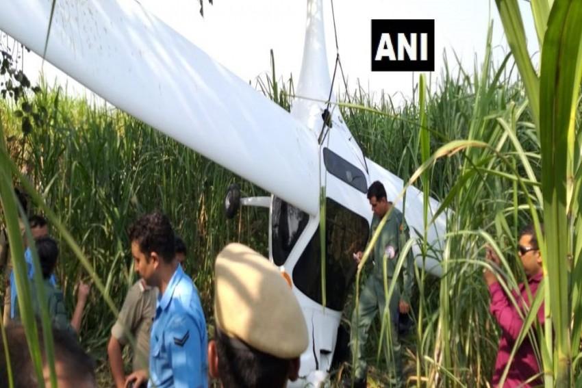 IAF Plane Crashes In UP's Bagpat district, Pilots Safe