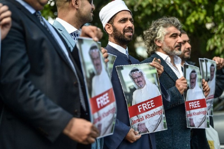 Supporters Rally Outside Saudi Consulate For The Release Of Jamal Khashoggi