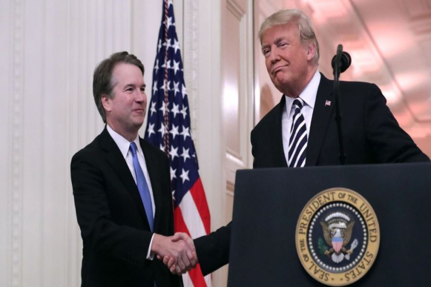Trump Apologises To Kavanaugh At Swearing-In For 'Terrible Pain And Suffering'