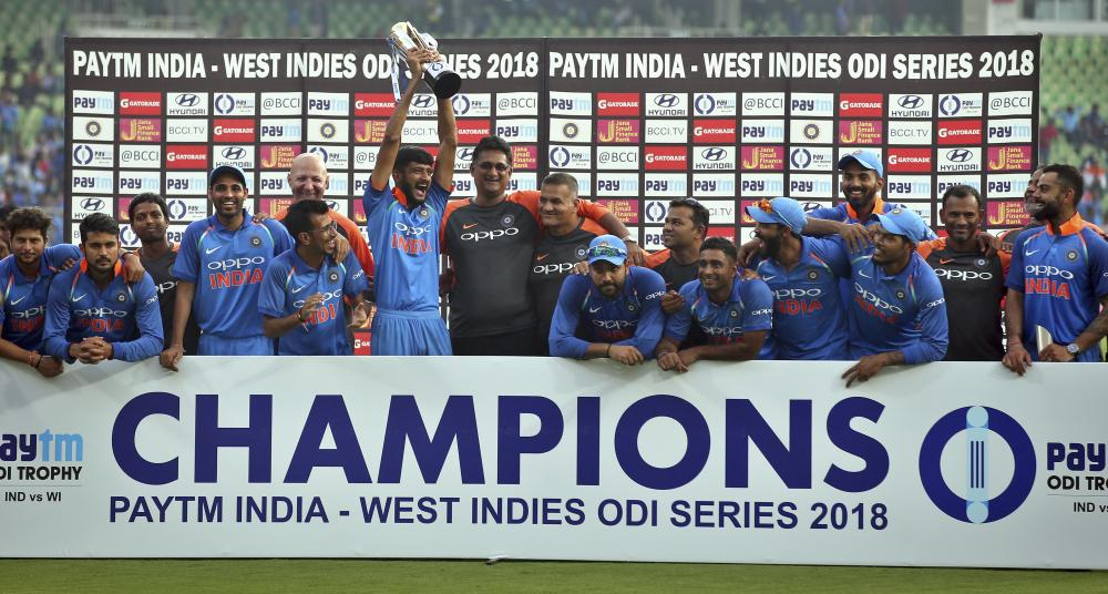 India Humble Windies By 9 Wickets In 5th ODI, Take 5-Match Series 3-1