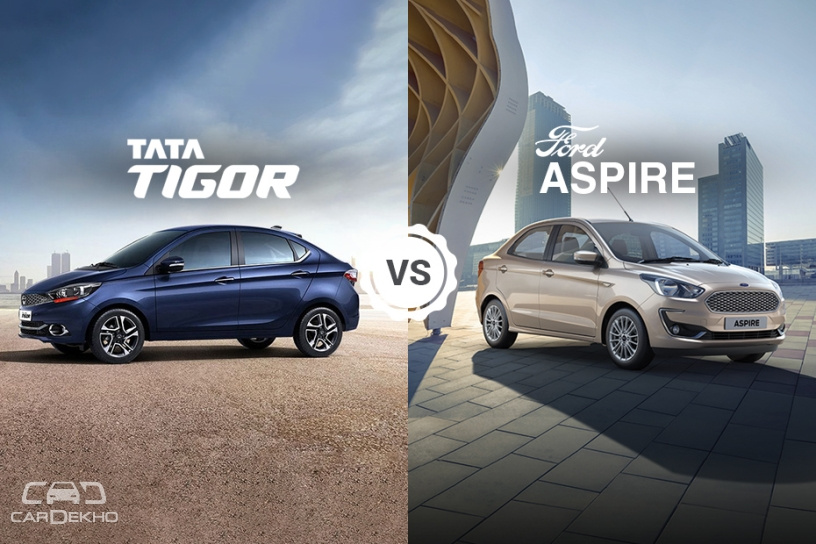 Tata Tigor vs Ford Figo Aspire: Variants Comparison