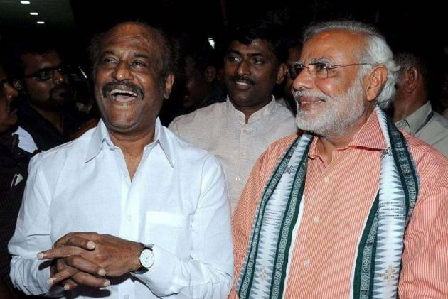 'If Ten People Declare War Against One Man, Who Is Stronger': Rajinikanth Hints Support For Modi