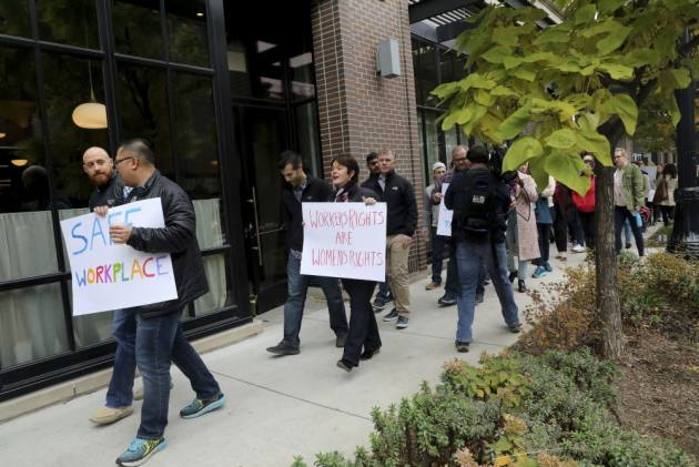 Google Employees Chant 'Don't Be Evil', '#TimesUpGoogle' At Walk-Outs Worldwide