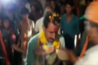 WATCH: BJP MLA Candidate Greeted With Garland Of Shoes In Poll-Bound Madhya Pradesh