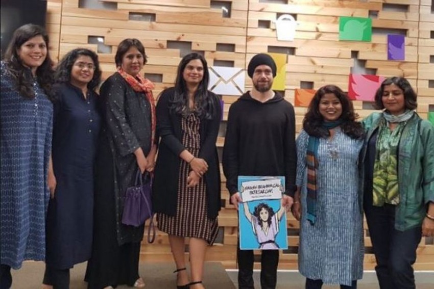 'Smash Brahminical Patriarchy' Placard Spoils Twitter Boss Jack Dorsey's India Visit