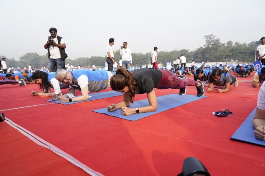 India Sets New Guinness World Record With 'Plankathon' Led By Shilpa Shetty