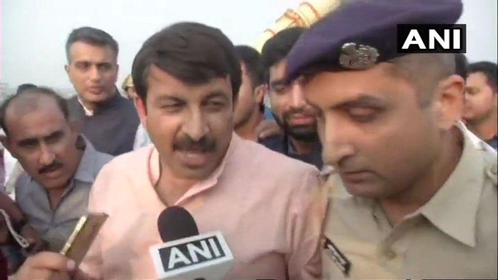Delhi BJP Chief Punches Policeman At Signature Bridge Inauguration