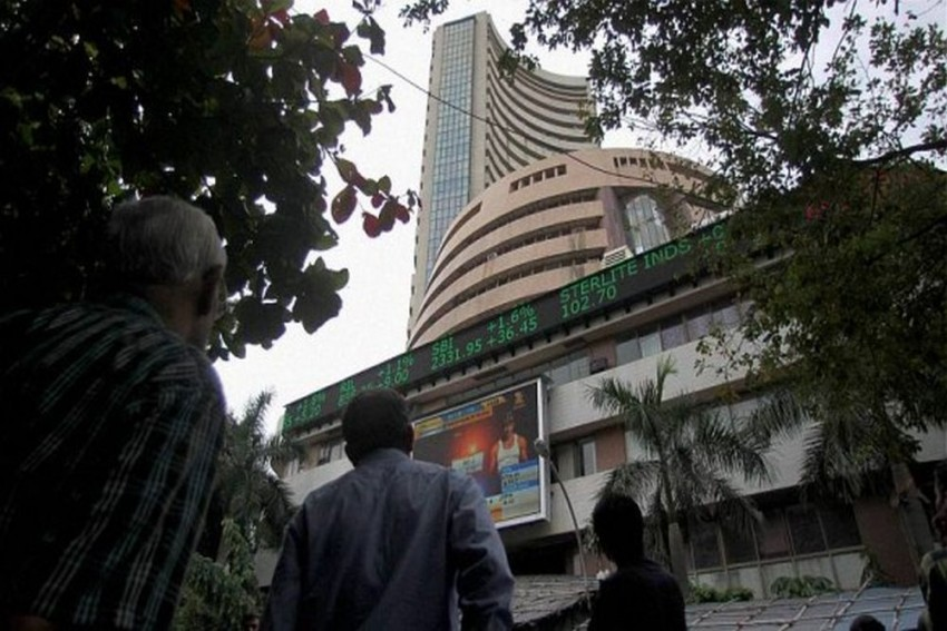 Sensex Falls Below 35000-Level, Rupee Depreciates By 67 Paisa