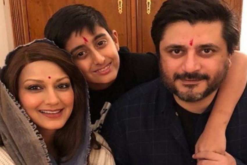 Sonali Bendre Celebrates Diwali In An Unconventional Way With Her Husband And Son