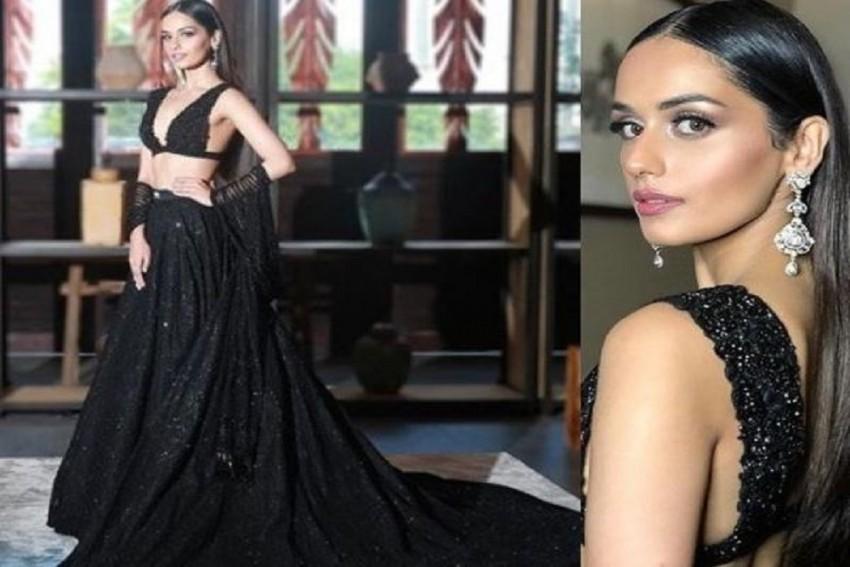 Manushi Chhillar Looks Stunning In Black Lehenga At The Miss World 2018