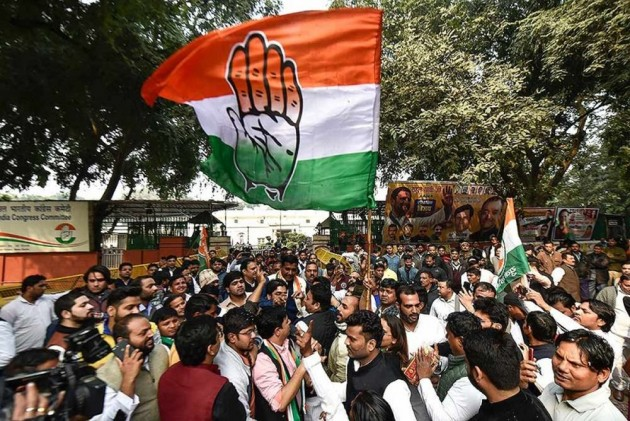 As Congress Revels At Party Headquarters, Rahul Gandhi Writ Large All Over
