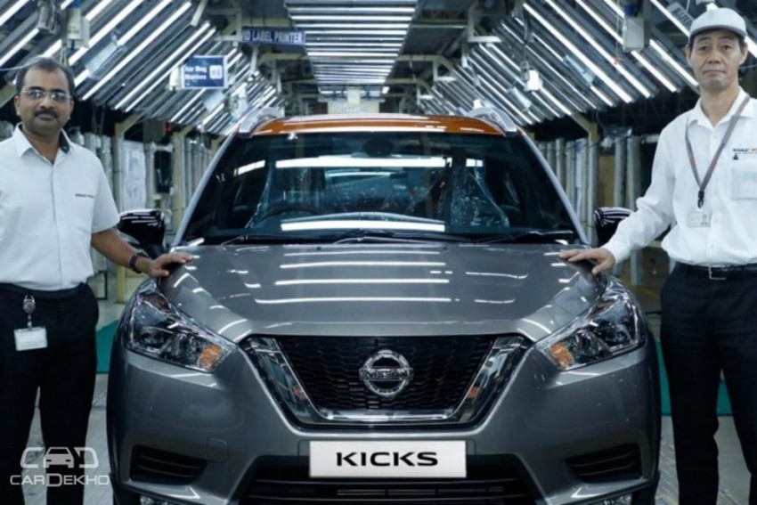 First Nissan Kicks SUV Rolls Out Of Chennai Plant