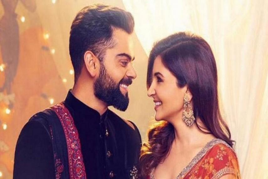Virat Kohli And Anushka Sharma Celebrate Their First Wedding