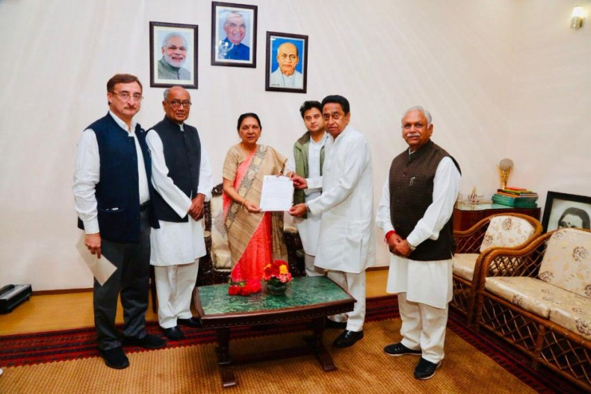 Congress Leaders Meet Governor, Stake Claim To Form Govt In Madhya Pradesh