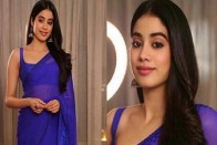 Janhvi Kapoor Looked Stunning In A Blue Sari As She Was Honoured With 'Rising Talent Of The Year' Award