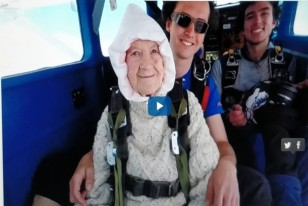 WATCH: This 102-Year-Old Woman Is Now The Oldest Skydiver In The World