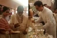 Watch: Amitabh Bachchan And Aamir Khan Serve Food At Isha Ambani's Wedding