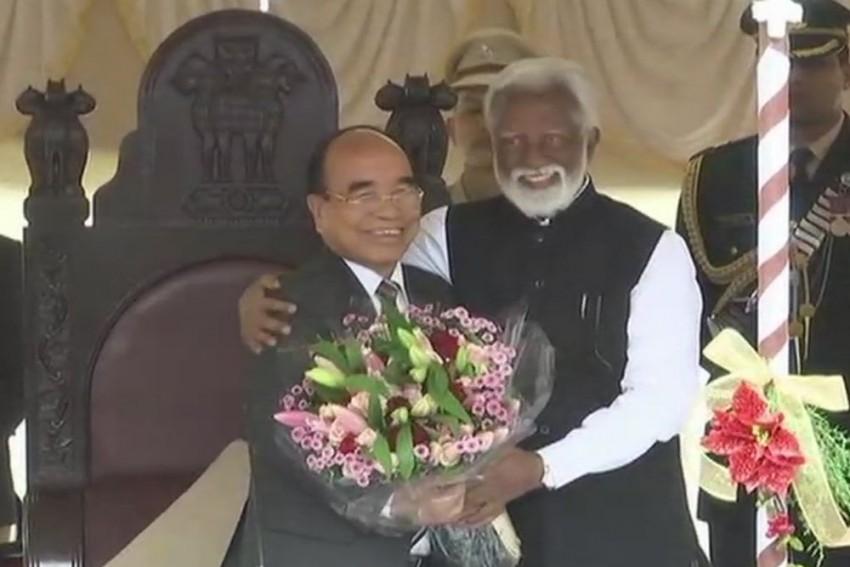 Zoramthanga Sworn In As Mizoram Chief Minister