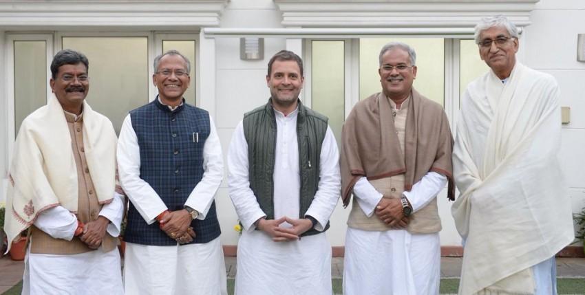 Rahul Gandhi Hints Chhattisgarh CM Issue Settled