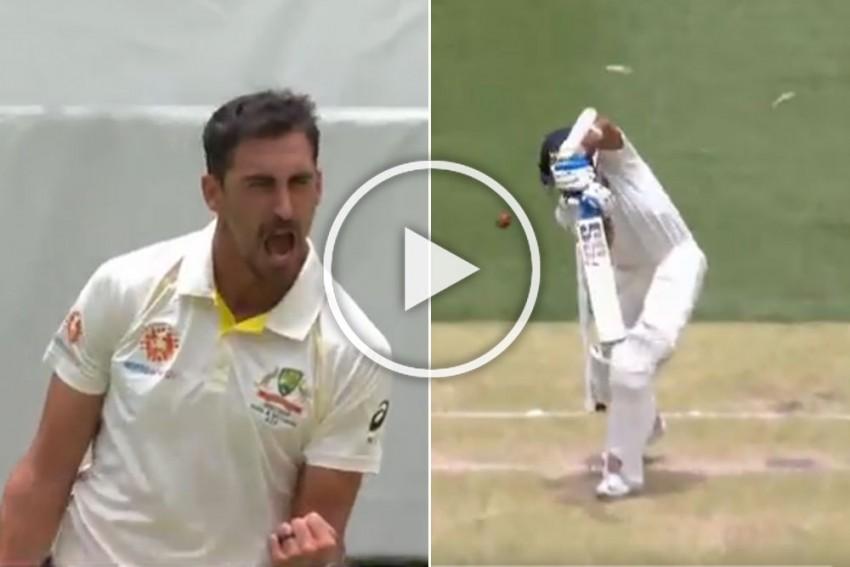 India's Tour Of Australia, 2nd Test: Mitchell Starc Beauty Beats Murali Vijay Defence – Watch