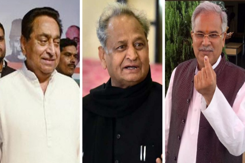 Gehlot In Rajasthan, Baghel in Chhattisgarh, Kamal Nath In MP To Be Sworn In As Congress CMs Today