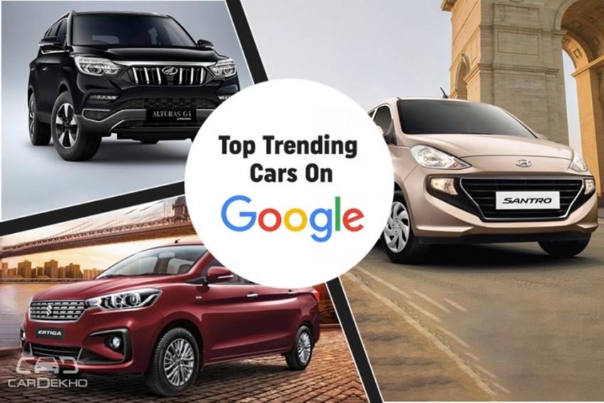 Honda Amaze, Hyundai Santro, Mahindra Marazzo Among Google's Top 10 Trending Cars In 2018